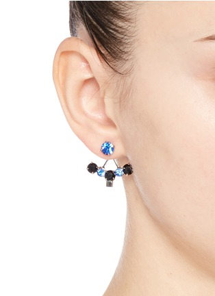 Figure View - Click To Enlarge - Joomi Lim - 'Pixel Perfect' cube crystal ear deco earrings