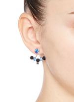 'Pixel Perfect' cube crystal ear deco earrings