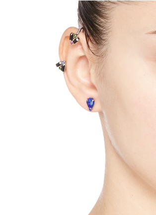 Joomi Lim - 'Pixel Perfect' crystal stud and cuff earring set