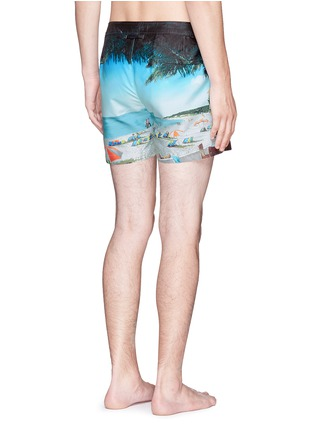 Back View - Click To Enlarge - Orlebar Brown - Setter Hulton Getty' beach print swim shorts