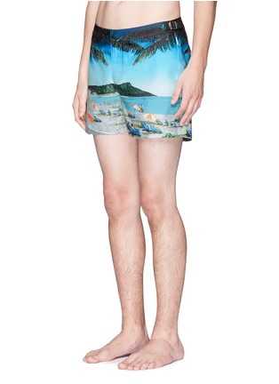 Figure View - Click To Enlarge - Orlebar Brown - Setter Hulton Getty' beach print swim shorts