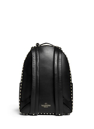 Back View - Click To Enlarge - Valentino - 'Rockstud' medium stud leather backpack