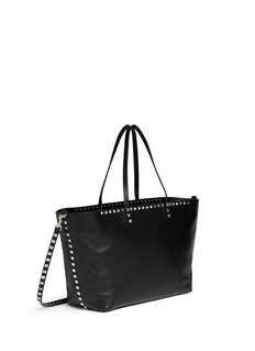 Valentino 'Rockstud' small zip shopper tote