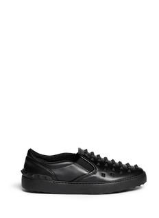 Valentino'Rockstud Noir' leather slip-ons