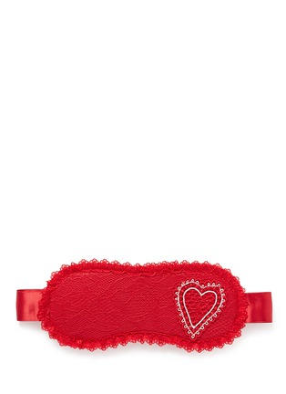 Main View - Click To Enlarge - L'Agent - 'Esthar' heart embroidery lace eye mask