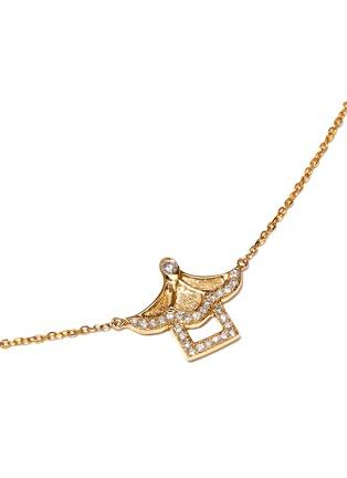 模特儿示范图 - 点击放大 - BAO BAO WAN - 18K黄金钻石凉亭项链