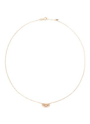 首图 - 点击放大 - BAO BAO WAN - 18K玫瑰金钻石小猪项链