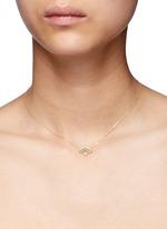 'Little Fan' 18k gold diamond pearl necklace