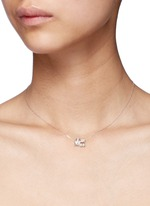 'Little Train' 18k gold diamond pearl necklace