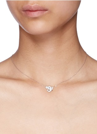 Detail View - Click To Enlarge - Bao Bao Wan - 'Little Elephant' 18k gold diamond necklace