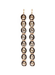 AISHWARYAMounted diamond gold alloy drop earrings