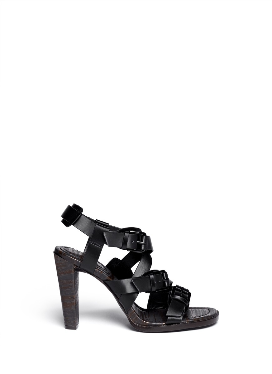 Ada brushed leather strappy sandals