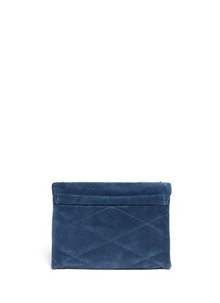LANVIN - ''Sugar' medium quilted suede shoulder bag