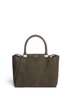 LANVIN 'Trilogy' croc embossed leather tote