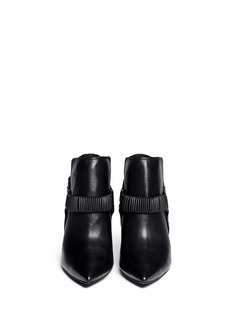 ASH 'Click' ankle harness leather booties