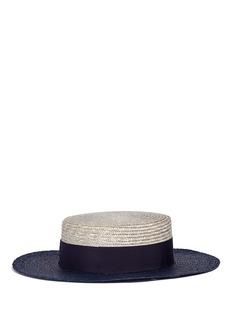 Borsalino'Toledo' bicolour straw boater hat