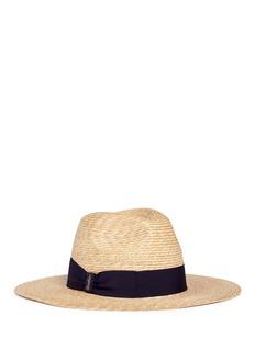 Borsalino'Cappello' ribbon bow straw fedora hat