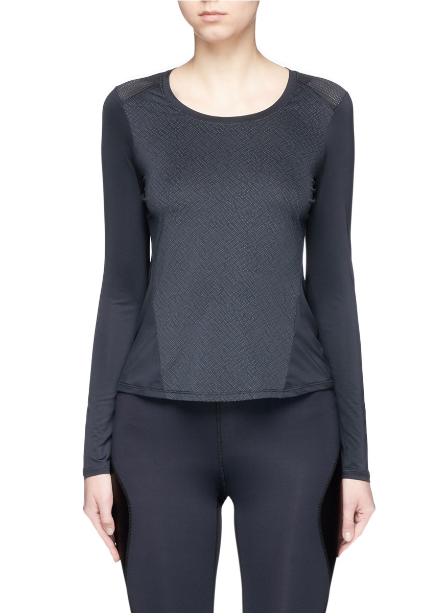 Graphic print performance long sleeve T-shirt by CALVIN KLEIN ATH