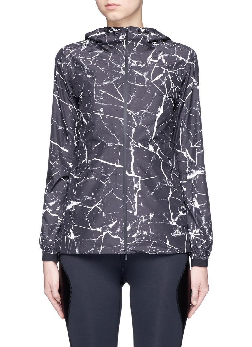 Marble print performance jacket by CALVIN KLEIN ATH