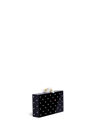 Detail View - Click To Enlarge - Charlotte Olympia - 'Fresh Pandora' pearl ladybug embellished Perspex clutch