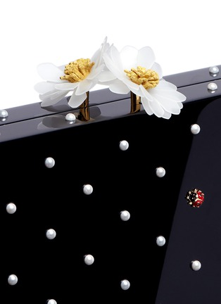 - Charlotte Olympia - 'Fresh Pandora' pearl ladybug embellished Perspex clutch