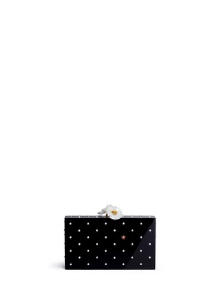 Main View - Click To Enlarge - Charlotte Olympia - 'Fresh Pandora' pearl ladybug embellished Perspex clutch