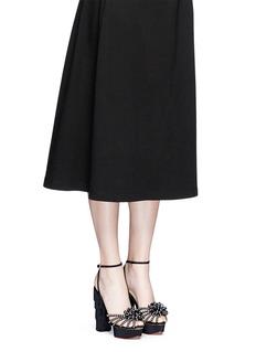 Charlotte Olympia 'Miss Cha Cha Cha' fringed heel pearl embellished sandals