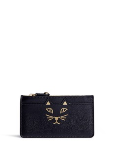 Charlotte Olympia 'Feline' cat face coin pouch