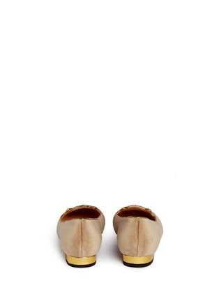 Back View - Click To Enlarge - Charlotte Olympia - 'Cheeky Kitty' velvet flats