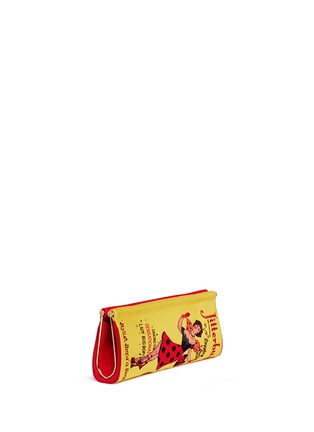 Detail View - Click To Enlarge - Charlotte Olympia - 'Jitterbug Magazine' embellished crepe de Chine clutch
