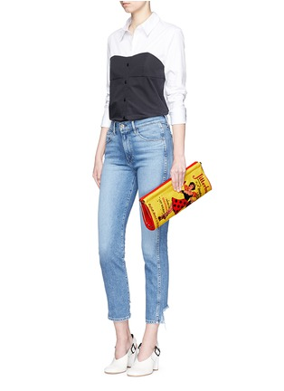 Figure View - Click To Enlarge - Charlotte Olympia - 'Jitterbug Magazine' embellished crepe de Chine clutch