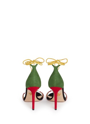 Back View - Click To Enlarge - Charlotte Olympia - 'Let's Dance' wraparound tie suede sandals