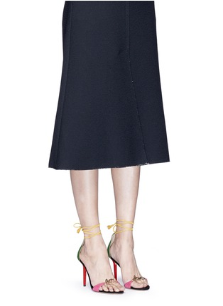 Figure View - Click To Enlarge - Charlotte Olympia - 'Let's Dance' wraparound tie suede sandals