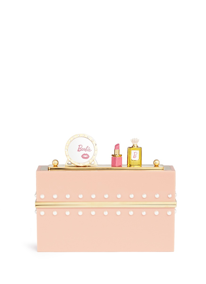 x Barbie® Barbie World Perspex clutch by Charlotte Olympia