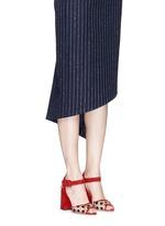 'Emma' polka dot mesh suede sandals