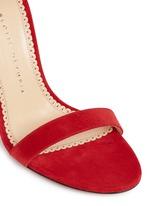 'Salsa 95' scalloped trim tassel suede sandals