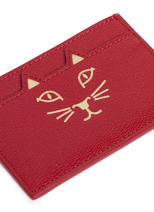 Detail View - Click To Enlarge - Charlotte Olympia - 'Feline' cat face card holder