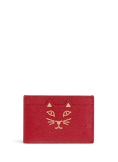 Charlotte Olympia 'Feline' cat face card holder