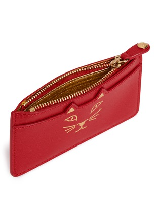 Detail View - Click To Enlarge - Charlotte Olympia - 'Feline' cat face coin pouch