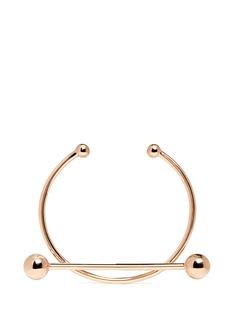 Maria Black'Solar' pierced rose gold silver cuff