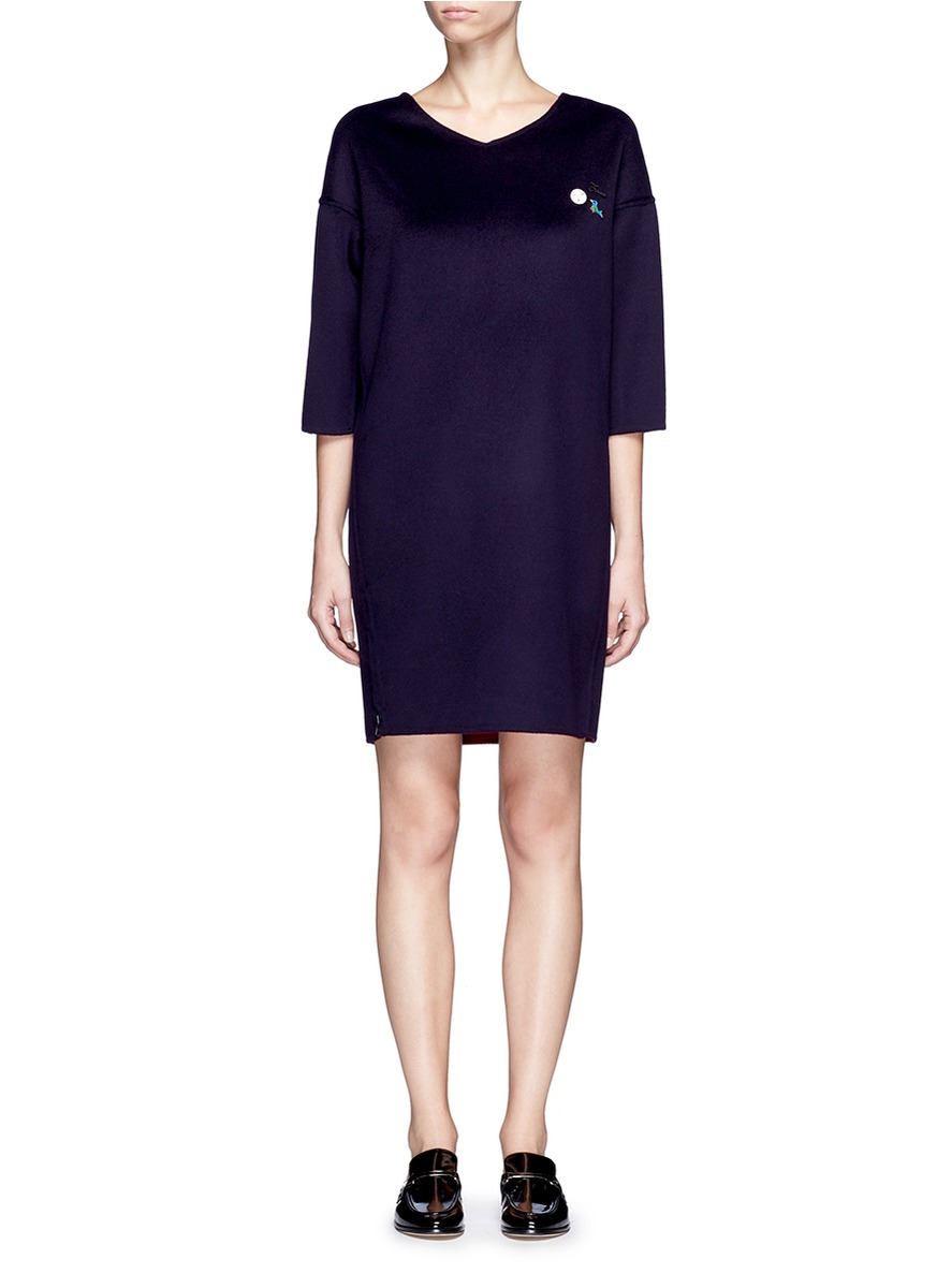 x Du Juan reversible felted cashmere dress by CRUSH Collection