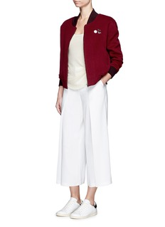 CRUSH Collectionx Du Juan detachable knit vest cashmere bomber jacket