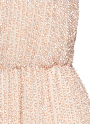 Detail View - Click To Enlarge - alice + olivia - 'Mika' bead embellished silk romper