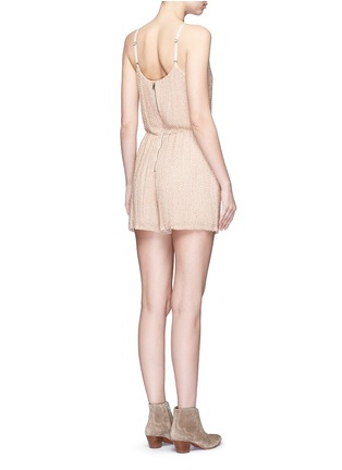 Back View - Click To Enlarge - alice + olivia - 'Mika' bead embellished silk romper
