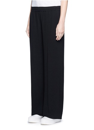 Front View - Click To Enlarge - Vince - Elastic waist wide leg pants