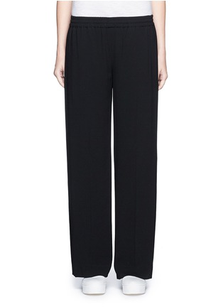 Main View - Click To Enlarge - Vince - Elastic waist wide leg pants