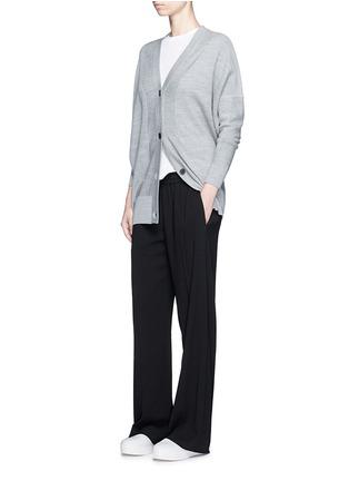 Figure View - Click To Enlarge - Vince - Elastic waist wide leg pants