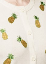 Pineapple embroidery cotton cardigan