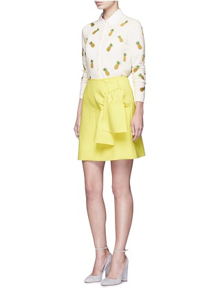 Figure View - Click To Enlarge - alice + olivia - Pineapple embroidery cotton cardigan