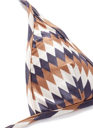 Detail View - Click To Enlarge - Zimmermann - 'Harlequin' diamond print triangle bikini set